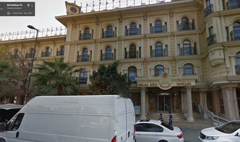 Screenshot Google Maps Hotel Celal Aga Konagi