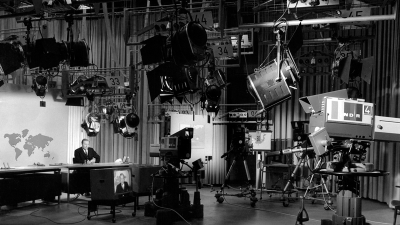 Das tagesschau-Studio 1964