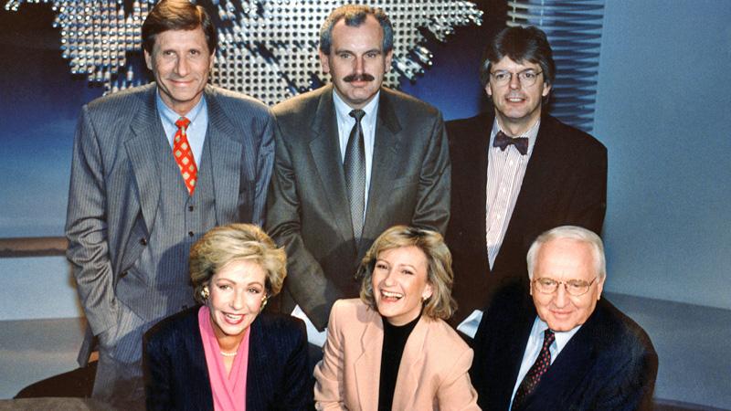 Das Team der tagesthemen von 1994